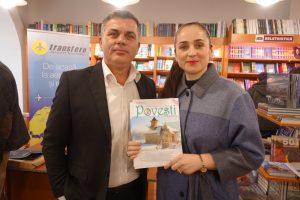 Jurnalista Silvia Vrinceanu si Cristi Merchea, editorul revistei Povesti din tara mea