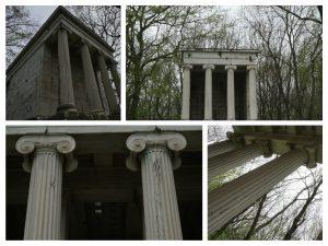 Mausoleul imită templul zeiţei Nike de pe Acropole.